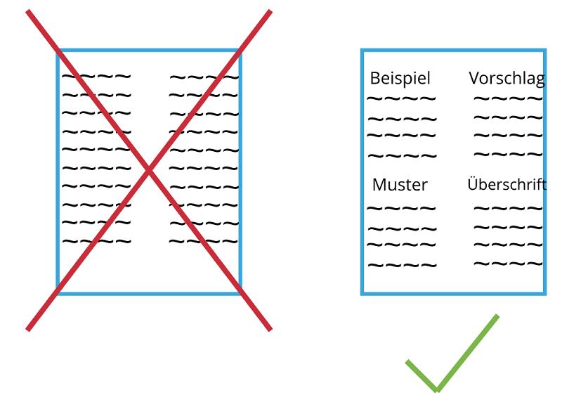 In Abschnitte unterteiltes Stellenanzeigen Design
